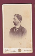 021018A - PHOTO CDV SPIRESCU BUCURESCI ROUMANIE -  Homme De Profil Lunettes - Romania