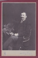 021018B - PHOTO CABINET ATELIER HIGH LIFE FOST G WABER BUCURESCI ROUMANIE - 1908 Homme Moustache - Romania