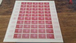 LOT 418684 TIMBRE DE FRANCE NEUF** LUXE FEUILLE N°1267 VALEUR 40 EUROS BLOC - Feuilles Complètes