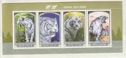 North Korea 2005 White Tiger (4) Strip UM - Corea Del Norte