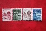 Kinderzegels Enfant Child NVPH 45-48 1957 MH Ongebruikt NIEUW GUINEA NIEDERLANDISCH NEUGUINEA / NETHERLANDS NEW GUINEA - Nuova Guinea Olandese