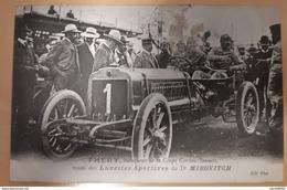 CPA THERY Vainqueur Coupe Gordon-Bennett Muni Des Lunettes Sportives Du Dr MIROVITCH Pub Au Dos Ecrite 1905 - Cartes Postales
