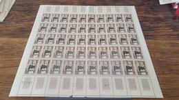 LOT 418707 TIMBRE DE FRANCE NEUF** LUXE FEUILLE N°1287 VALEUR 25 EUROS  BLOC - Feuilles Complètes