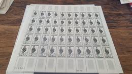 LOT 418715 TIMBRE DE FRANCE NEUF** LUXE FEUILLE N°1285 VALEUR 50 EUROS   BLOC - Feuilles Complètes
