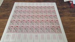 LOT 418734 TIMBRE DE FRANCE NEUF** LUXE FEUILLE N°1301 VALEUR 60 EUROS  BLOC - Feuilles Complètes