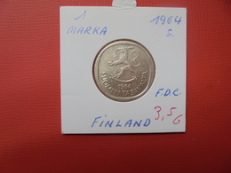 """FINLANDE 1 MARKKAA 1964 """"S"""" ARGENT - Finland"""