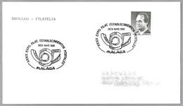 Matasellos Exposicion Filatelica ESTABLECIMIENTOS POSTALES. Malaga, Andalucia, 1990 - 1931-Hoy: 2ª República - ... Juan Carlos I