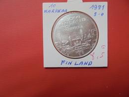 FINLANDE 10 MARKKAA 1971 ARGENT - Finland