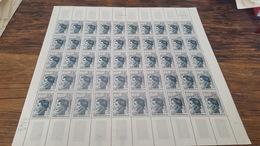 LOT 418745 TIMBRE DE FRANCE NEUF** LUXE FEUILLE N°1347 VALEUR 125 EUROS   BLOC - Feuilles Complètes