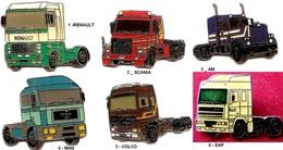 1 Pins Au Choix _Camion_Tracteurs_Collection KIENZLE_Renault_Scania_Man_Volvo_Daf - Transportation