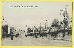 * Brussel - Bruxelles - Brussels * Exposition Universelle, Expo 1910, Entrée Principale, Animée, Allée, Rare - Wereldtentoonstellingen