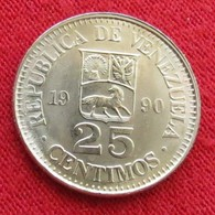 Venezuela 25 Centimos 1990 UNCºº - Venezuela
