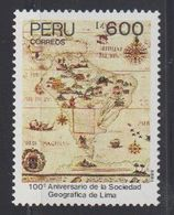 Peru 1989 Sociadad Geografica 1v ** Mnh (40913G) - Peru