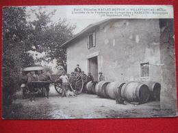 """69 - VILLEFRANCHE - """" ETS, VITICOLES MACLET - BOTTON - """" ///"""" ARRIVEE DE LA VENDANGE AU CUVAGE DES NARCUTS - 18- 09 - 25 - Villefranche-sur-Saone"""