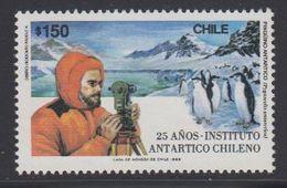 Chile 1989 Antarctica 25 Anos Instituto Antartico Chileno 1v  (40913H) - Chili