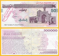 Iran 500000 (500'000) Rials P-154(1-3) 2008 Emergency Cheque With Stamp UNC - Iran