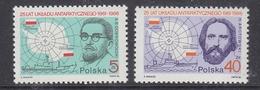 Poland 1986 Antarctic Treaty 2v ** Mnh (40913I) - Zonder Classificatie