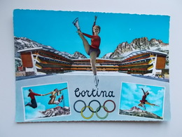 CORTINA - Olympische Winterspelen, Stadio Olimpico Del Ghiaccio 1224 M. - Italie