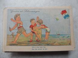 C P A Fantaisie, Humour (cerf Volant) A La Plage Enfant - België