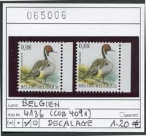 Buzin - Belgien - Belgique -  Belgium - Belgie - COB 4091 Décalage - Michel 4136 - Spiessente   - ** Mnh Neuf Postfris - Errors And Oddities
