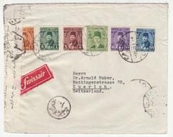 Egypt Air Mail Letter Cover Travelled  Swissair 1949 To Switzerland - Censored B181010 - Egypt