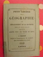 Petit Abrégé De La Geographie Du Département De La Mayenne . Jamin à Laval. Sd (vers 1880) Carte Dépliable - Books, Magazines, Comics