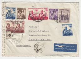 Egypt Air Mail Letter Cover Travelled  1953? To Switzerland - Censored B181010 - Egypt