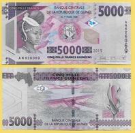 Guinea 5000 Francs P-49 2015 UNC - Guinée