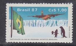 Brazil 1987 Antarctica 1v ** Mnh (40914D) - Brazilië