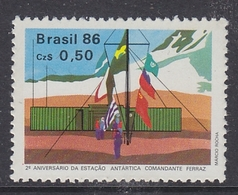 Brazil 1986 Antarctica 1v ** Mnh (40914F) - Brazilië