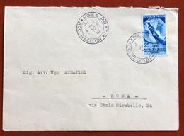 MOSTRA OLTREMARE 1952   LIRE 25 ISOLATO  SU BUSTA DEL 7/6/52 - 6. 1946-.. Republic
