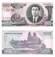 KOREA  NORTH   SPECIMEN UNC 5000 WON  - COREE DU NORD BILLET 5000 WON SPECIMEN NEUF - Corea Del Nord