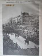 Guerre 14-18 Bruxelles  Place De La Bourse   1919  Tramway  Diables Bleus Fetes  Cafe De  L Industrie - Vieux Papiers