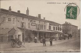 ANDREZIEUX (-BOUTHEON, Loire) - ROUTE De SAINT-ETIENNE - Hôtel De La Loire BERAUD - Attelage - Animée - Voyagée - Andrézieux-Bouthéon