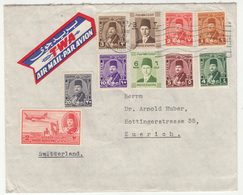 Egypt Letter Cover Travelled Air Mail TWA 194? To Switzerland B181010 - Egypt