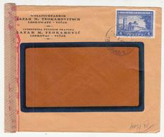 Serbia Lazar M. Teokarovitsch Leskowatz Company Letter Cover Travelled 1943 - Censored B B181010 - Occupazione 1938 – 45