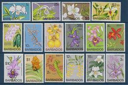 BARBADOS - YVERT N° 373/388 ** MNH - COTE = 60 EUR. - FAUNE ET FLORE - - Barbades (1966-...)
