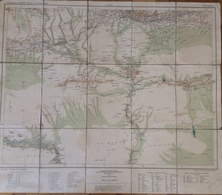 Ottoman Djarbekir (Diyarbakır). Richard Kiepert.  1914.56 X 66 Cm. On Cloth - Mapas Geográficas