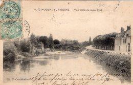 889 - Cpa 10  Nogent Sur Seine - Vue Prise Du Pont Vert - Nogent-sur-Seine