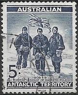 AUSTRALIAN ANTARCTIC TERRITORY 1961 Memebers Of Shackleton Expedition - 5d - Blue  FU - Australian Antarctic Territory (AAT)