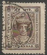 Indore (Holkar) - 1904  Maharaja Tukaji Rao III 3a Violet Used   SG 13  Sc 12 - Holkar