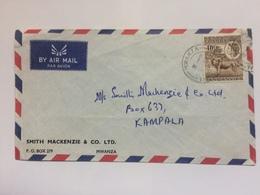KENYA UGANDA & TANGANYIKA KUT - 1950`s Air Mail Cover Mwanza To Kampala - Kenya, Uganda & Tanganyika