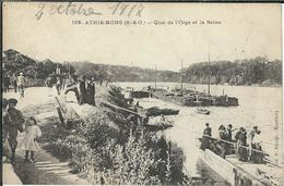 Essonne, Athis-Mons, Quai De L'Orge Et La Seine, Animée - Athis Mons