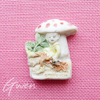 Feve Artisanale Midgard Polychrome Gnome Elfe Lutin Miniature Biscuit Porcelaine - Characters