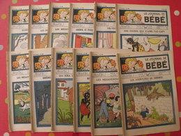 """Lot De 12 Revues """"le Journal De Bébé"""" De 1938. Pouf Davine Rob-vel Rotman Rogelon Pélik Polydor - Bücher, Zeitschriften, Comics"""