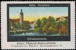 Reklamemarke: Konstanz Schwanenteich - Erinnophilie