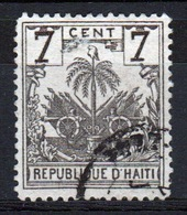 Haiti 1893 Seven Centime Grey Stamp Showing Tree With Leaves Dropping. - Haiti