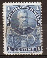 Haiti 1898 One Centime Single Blue Stamp . - Haiti