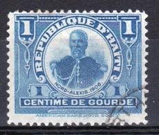 Haiti 1906 One Centime Single Blue Stamp . - Haiti