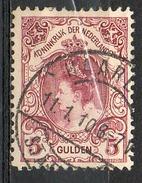 PAYS-BAS - (Royaume) - 1898-1923 - N° 63 - 5 G. Lilas-brun - (Wilhelmine) - Gebraucht